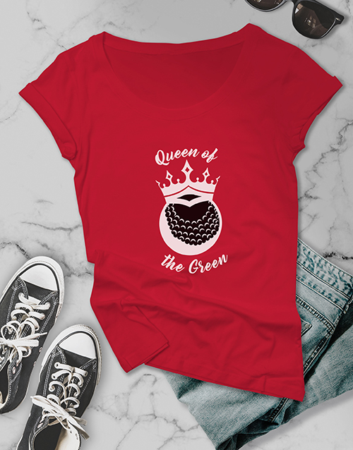 clothing: Queen Of The Green Golfer Shirt!