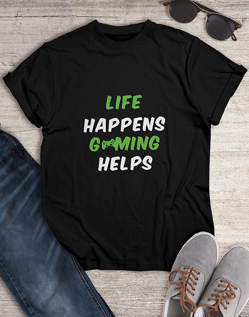 clothing: Life Happens Gaming Tshirt!