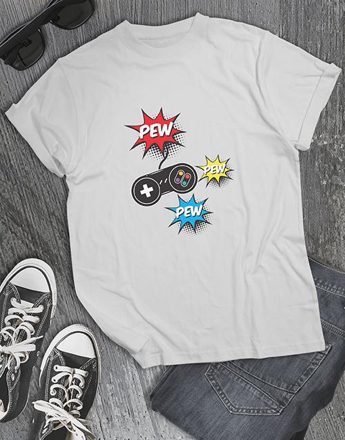 clothing: Pew Pew Pew Gaming Tshirt!