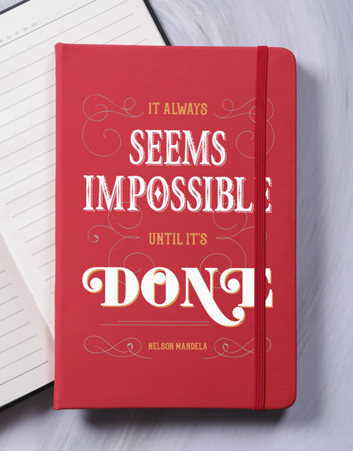 secretarys-day: Nothing is Impossible A5 Notebook!