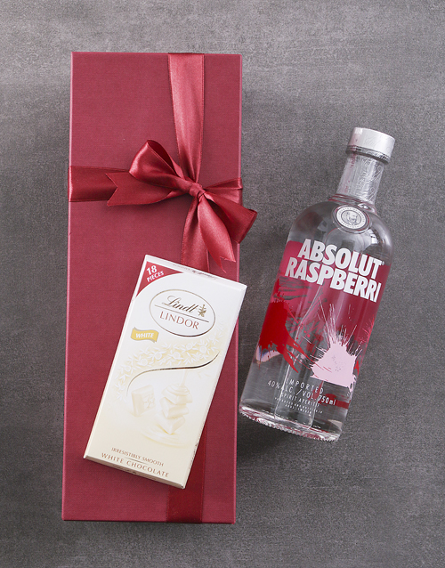 bosses-day: Red Box of Absolut Raspberry!