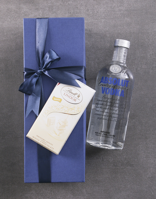 bosses-day: Blue Box of Absolut Vodka!