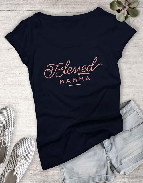 clothing: Feminine Blessed Mama Ladies T Shirt!