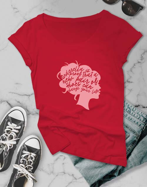 clothing: Shoes Can Change Your Life Ladies T Shirt!
