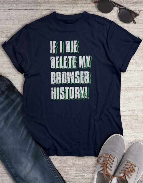 clothing: Delete My Browser T Shirt!
