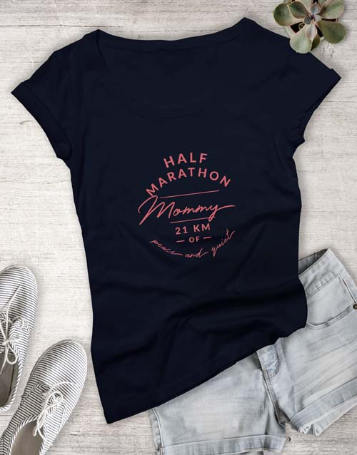 clothing: Marathon Mom Ladies T Shirt!
