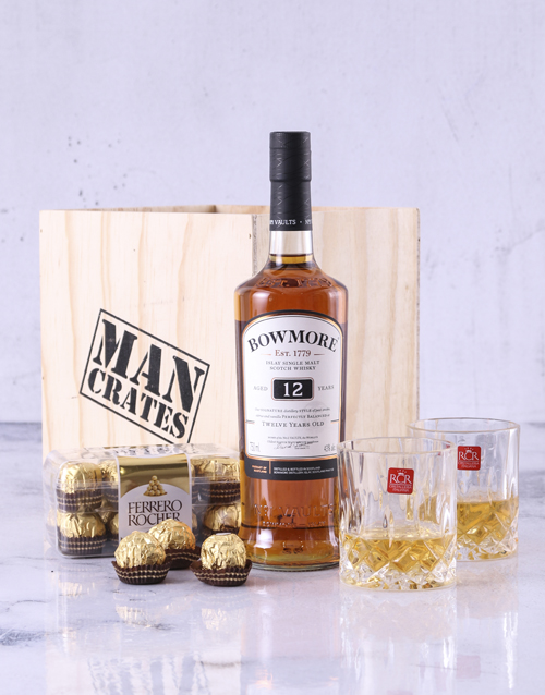 love-and-romance: Bowmore 12 Year Man Crate!