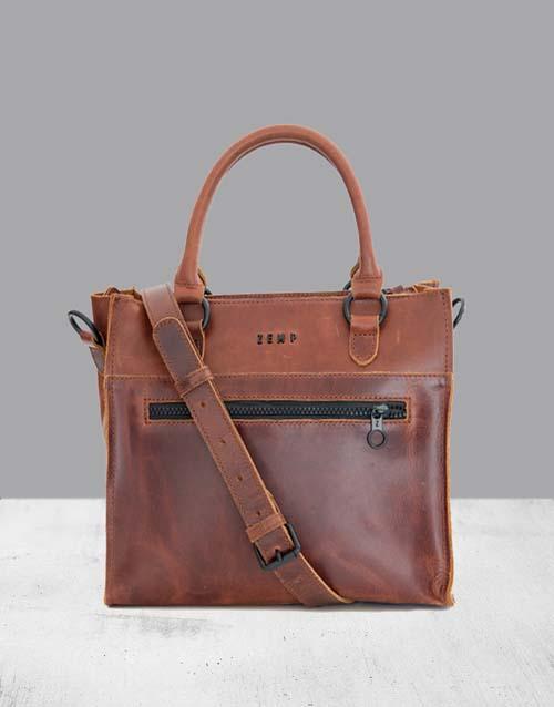 apparel: Zemp Bastille Chestnut Handbag!