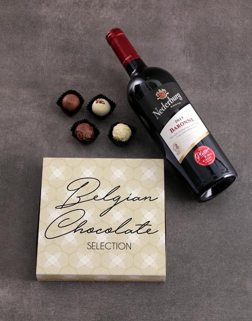valentines-day: Red Wine & Truffle Box!