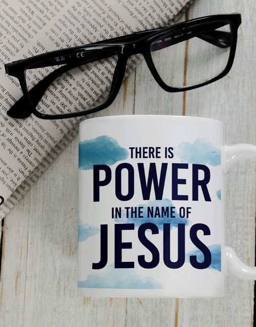 fathers-day: Power In His Name Mug Gift!