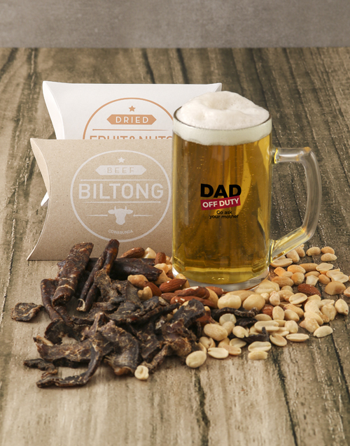 fathers-day: Off Duty Gourmet Food Beer Glass Gift!