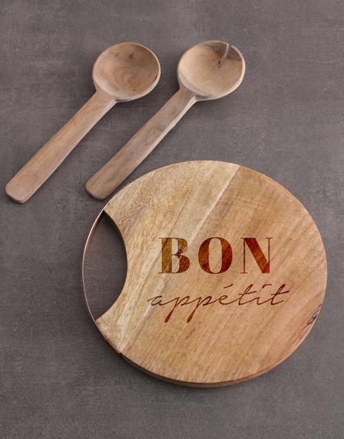 homeware: Bon Appetit Round Chopping Board!