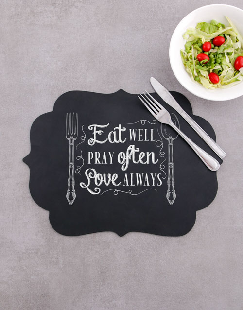 christmas: Eat Well Chalk Board Placemat!