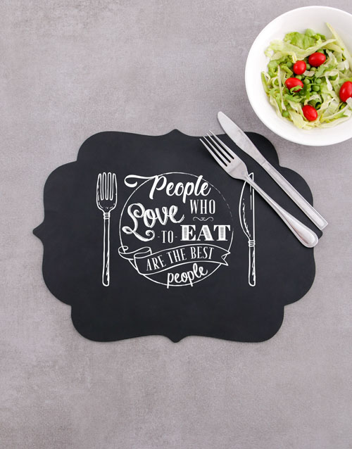 christmas: Love To Eat Chalk Board Placemat!
