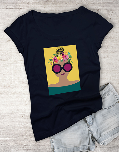mothers-day: Flowers In Her Hair Ladies T Shirt!