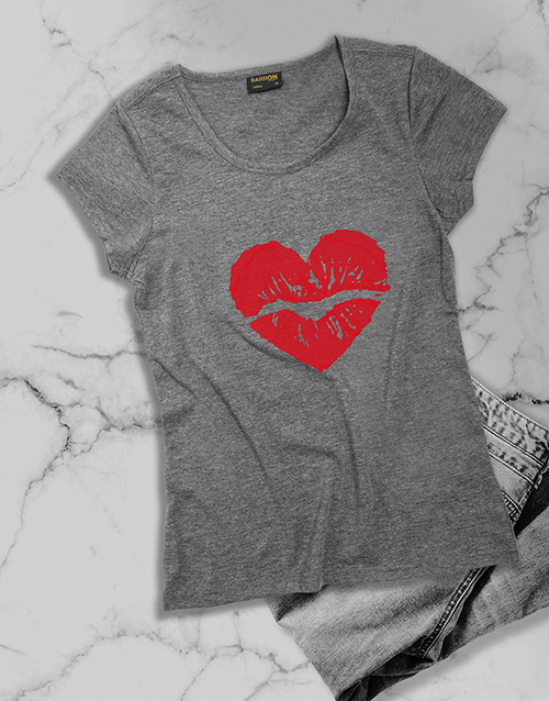 mothers-day: Red Lipstick Kiss Ladies T Shirt!
