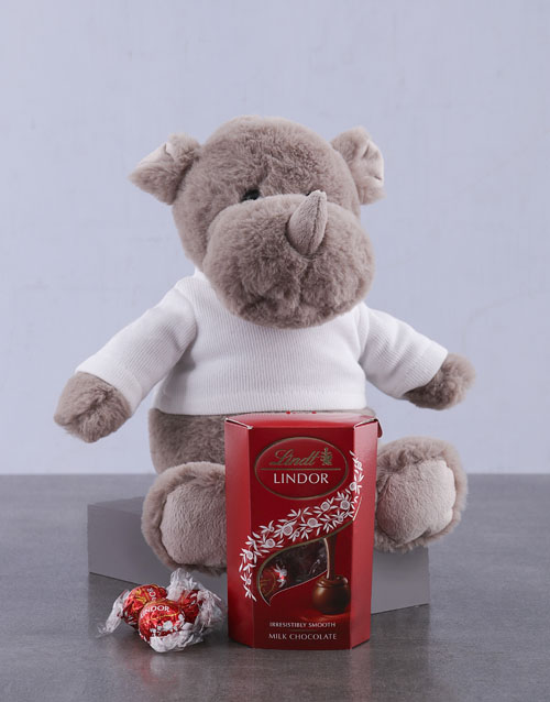 mothers-day: Lindt and Rhino Plush!