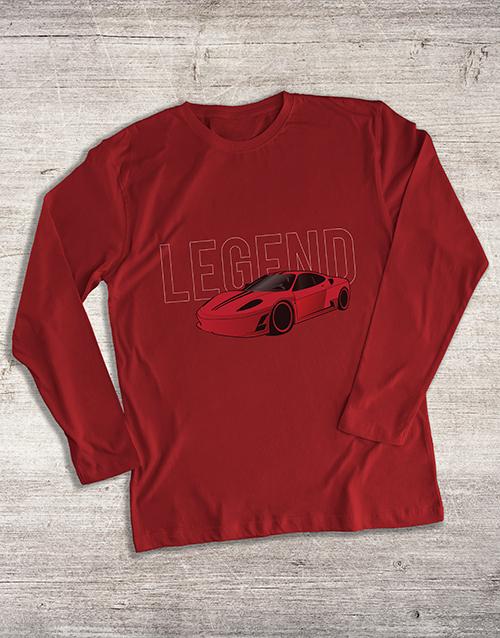 clothing: Boss Race Car Long Sleeve T Shirt!