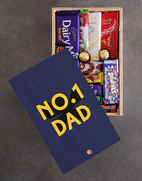 fathers-day: Number One Dad Chocolate Crate!