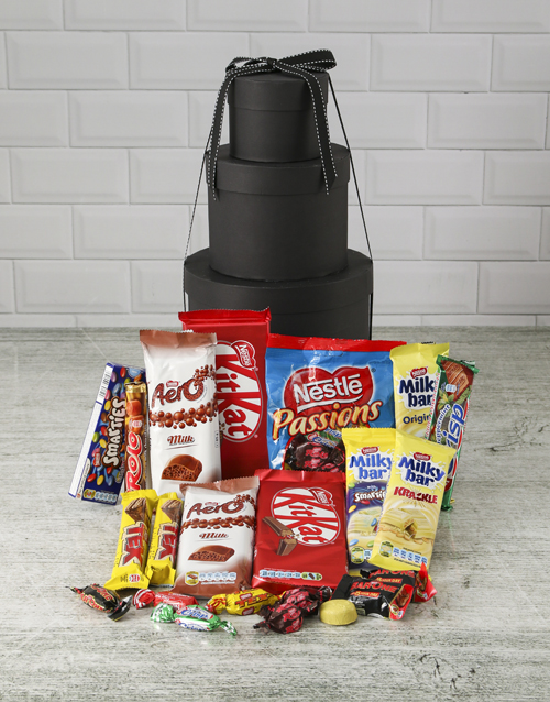 fathers-day: Choco Treat Hat Box Tower!