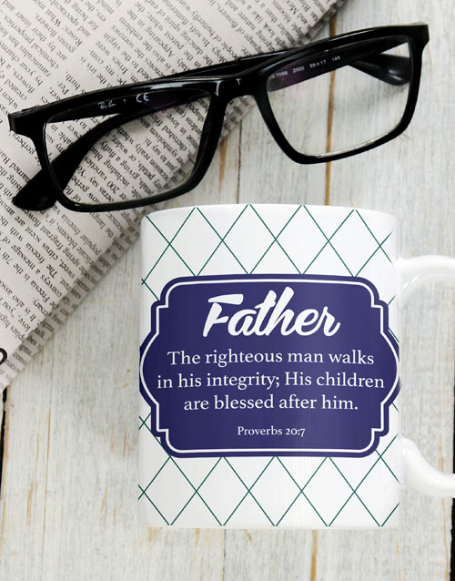 fathers-day: Blessed Father Mug!