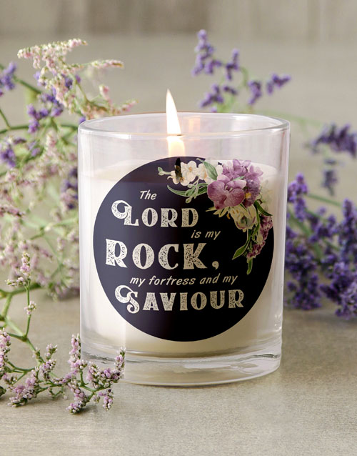 faith: Lord is my Rock Candle!
