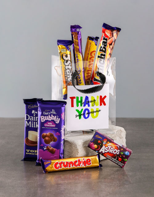 chocolate: Thank You Bag of Chocolate Treats!