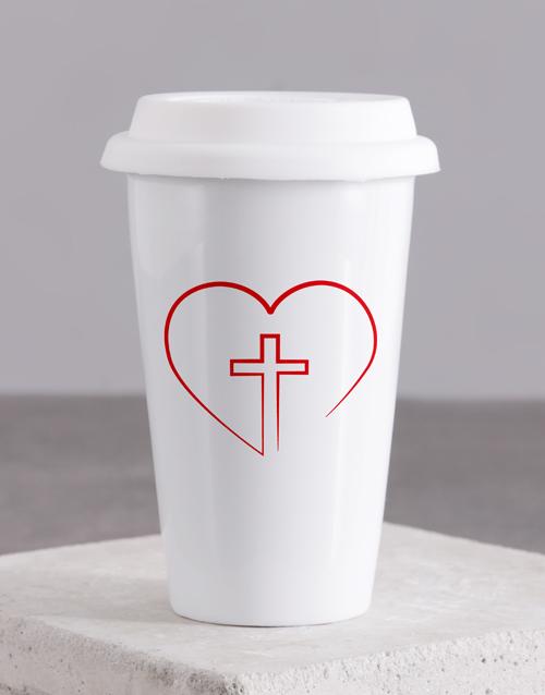 valentines-day: Love Jesus Travel Mug!