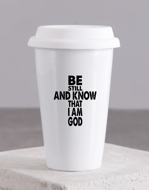 mothers-day: Be Still and know Travel Mug!