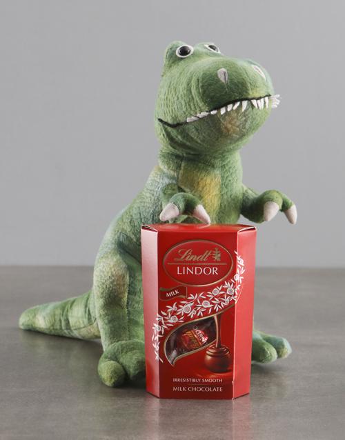 teddy-bears: Dinosaur Teddy With Lindt!