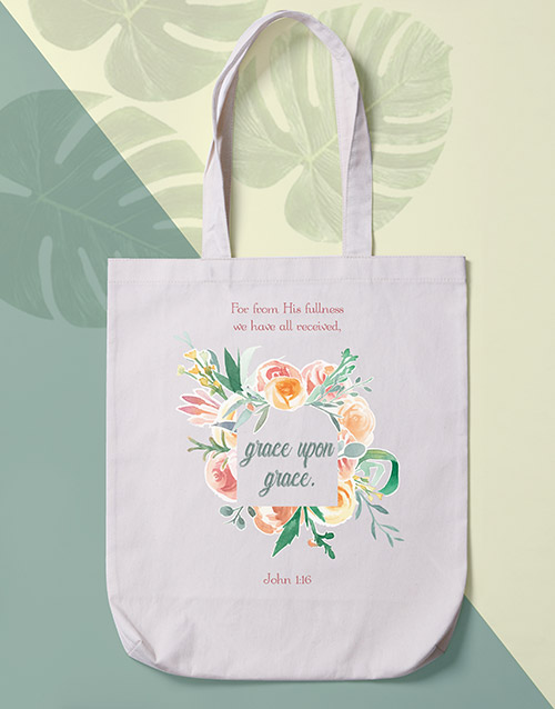 mothers-day: Grace Upon Grace Tote Bag!