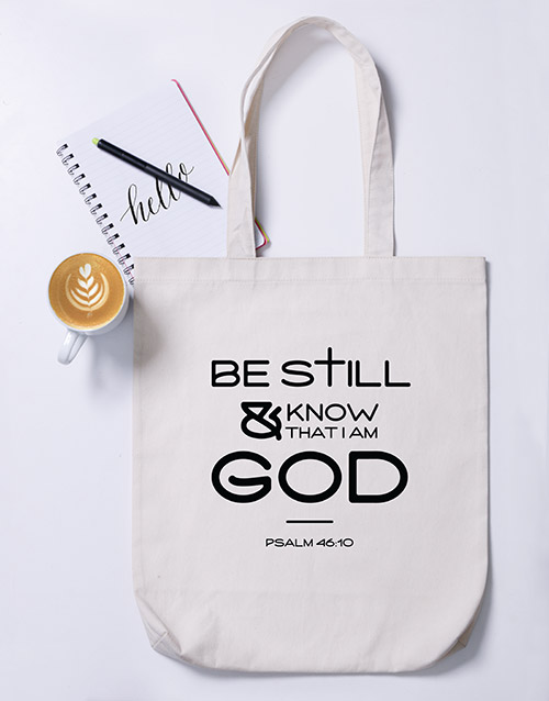 faith: Be Still Tote Bag!