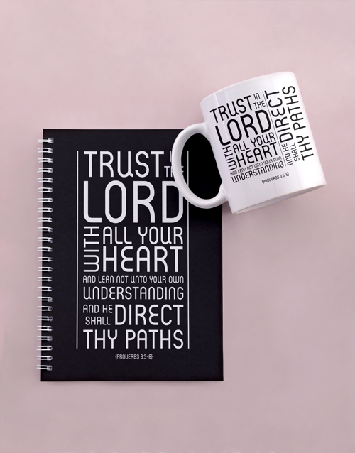 mothers-day: Trust In The Lord Notebook Set!