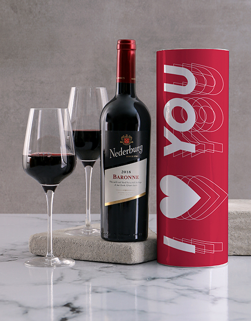 valentines-day: Red Heart Wine Tube!