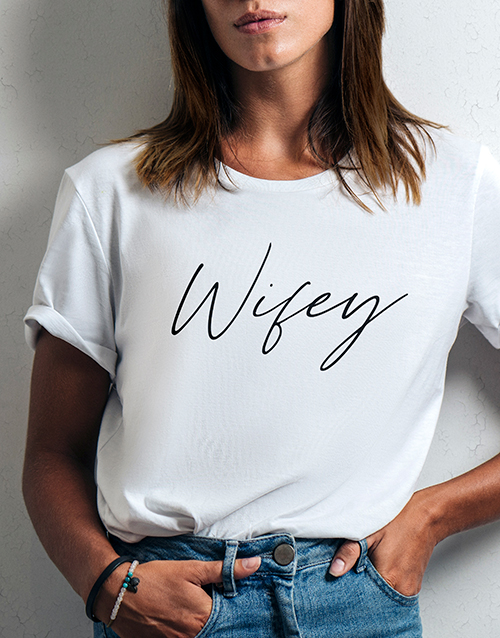 clothing: Wifey Ladies White Tshirt!