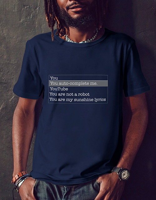 valentines-day: You Complete Me Navy Tshirt!