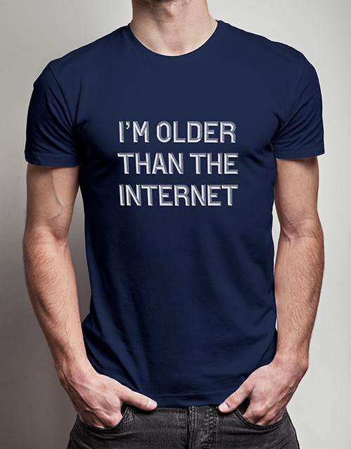 clothing: Older Than the Internet T Shirt!