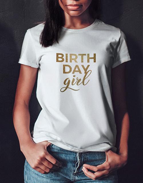 clothing: Birthday Girl Glitter T Shirt!