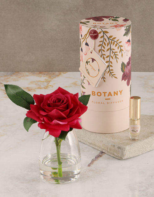 spring-day: Botany Small Red Silk Rose Diffuser!