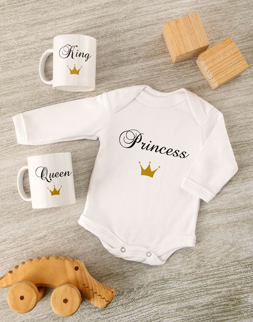 mothers-day: Little Princess Baby Onesie Set!