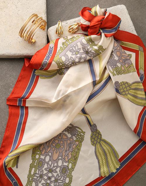 apparel: Chain Design Silk Scarf Combo!