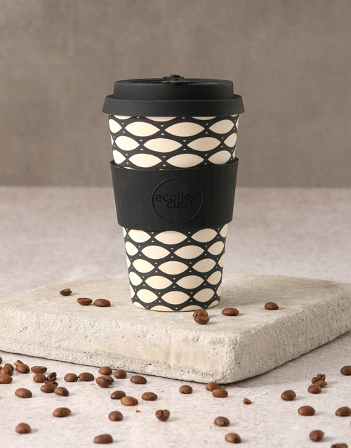 mothers-day: Black and White Geometric Travel Eco Cup!
