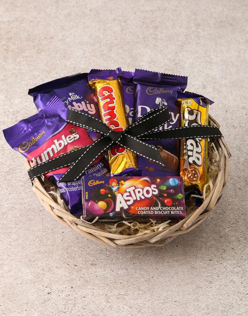 fathers-day: Cadbury Chocolate Basket Hamper!