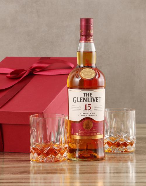 fine-alcohol: Glenlivet Fifteen Year Scotch Whisky Set!