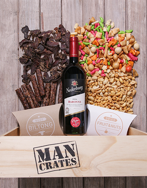 fathers-day: Red Wine Biltong and Nuts Man Crate!