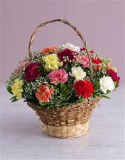 Picture of Carnation Wicker Basket !