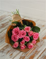 Picture of Pink Roses in Craft Paper!