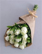 Picture of White Roses in Craft Paper!