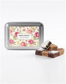 bakery: Personalised Floral Sweet Tooth Brownie Tin!
