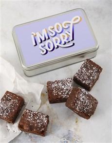 bakery: So Sorry Brownie Tin!